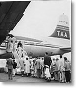 Passengers Boarding Airplane Metal Print
