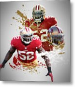 Patrick Willis 49ers Metal Print by Joe Hamilton
