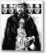 Pavarotti, Fidelio, Inking Metal Print