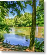 Peaceful On The River Metal Print
