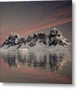 Peaks At Sunset Wiencke Island Metal Print by Colin Monteath