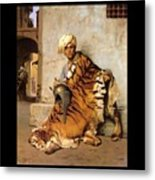 Pelt Merchant Of Cairo - 1869 Metal Print by Jean-Leon Gerome