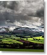 Pen Y Fan And Brecon Beacons Panorama Metal Print