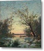 Per Ekstrom, French Landscape In Sunset. Metal Print