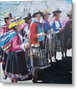 Peruvian Ladies Metal Print
