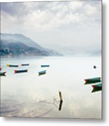 Phewa Lake In Pokhara, Nepal Metal Print