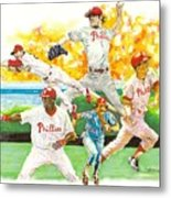 Phillies Through The Ages Metal Print