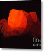 Phosphorescent Calcite Crystal Metal Print