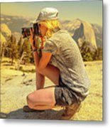 Photographer On Sentinel Dome Metal Print
