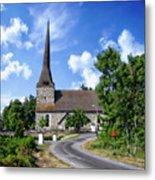 Picturesque Rural Church Metal Print