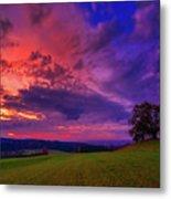 Picturesque Rural Sunset Metal Print