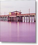 Pier In The Sea, Gulf State Park Pier Metal Print