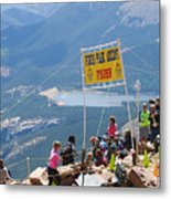 Pikes Peak Marathon And Ascent Metal Print