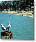 Pilot Bay Beach 4 - Mount Maunganui Tauranga New Zealand Metal Print