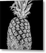 Pineapple Isolated On Black Metal Print