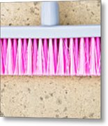 Pink Broom Metal Print
