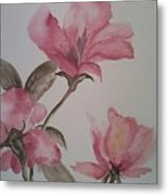 Pink Floral Metal Print by Ginny Youngblood