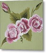 Pink Miniature Roses Metal Print