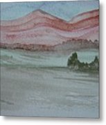 Pink Mountains Metal Print