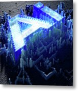 Pixel Artificial Intelligence Metal Print
