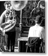 Playing Jazz In New Orleans Metal Print
