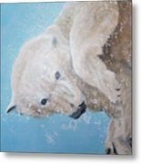 Polar Bear Ballet,  Detail Metal Print