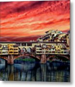 Ponte Vecchio Bridge Metal Print
