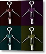 Pop Art Style Corkscrews. Metal Print