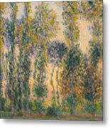 Poplars At Giverny, Sunrise Metal Print