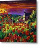 Poppies In Foy Metal Print