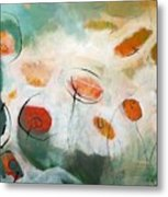 Poppies In The Clouds Metal Print