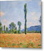 Poppy Field In Giverny  Metal Print