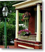 Porch With Hanging Plants Metal Print