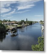 Port Charlotte Ackerman Waterway From Ohara Metal Print