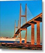 Port Traffic Metal Print