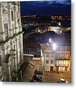 Porto By Night In Portugal Metal Print
