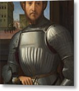 Portrait Of A Man In Armour Metal Print