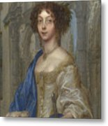 Portrait Of A Woman As Saint Agnes Metal Print