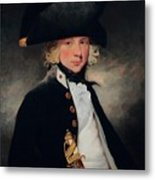 Portrait Of A Young Midshipman Sir Henry William Beechey Metal Print