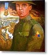 Portrait Of Corporal Roberts Metal Print by Dean Gleisberg