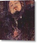 Portrait Of Diego Rivera 1914  Metal Print