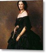 Portrait Of Princess Bariatinskaya Franz Xavier Winterhalter Metal Print