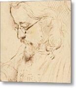 Portrait Of Samuel Palmer Head And Shoulders Metal Print
