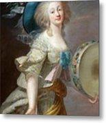 Portrait Une Danseuse Au Tambourin Lisabeth Louise Vige Le Brun Metal Print