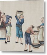 Portraying The Chinese Tea Industry Metal Print