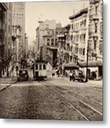 Powell Street Hill - San Francisco 1945 Metal Print