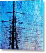 Power In Blue Metal Print
