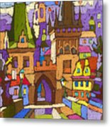 Prague Charles Bridge 01 Metal Print
