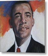 President Barack Obama Metal Print by Synnove Pettersen