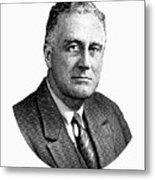 President Franklin Roosevelt Graphic  Metal Print
